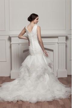 Trumpet/Mermaid Princess V-Neck Wedding Dresses 2030716