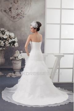 A-Line Sleeveless Sweetheart Wedding Dresses 2030717