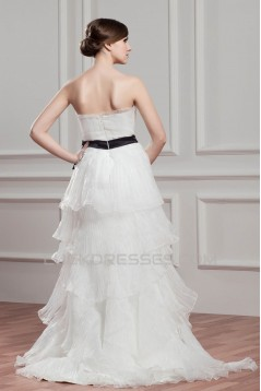 Great Satin Organza A-Line Strapless Sleeveless Wedding Dresses 2030727