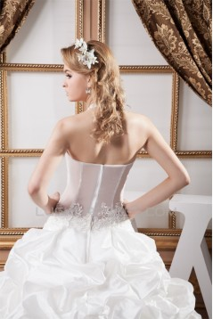 Ball Gown Halter Sleeveless Satin Tulle Lace Wedding Dresses 2030741
