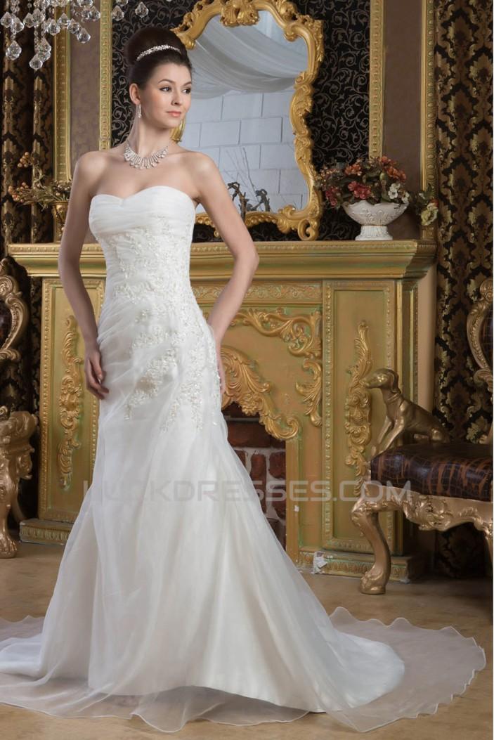 Hot Sale A-Line Sweetheart Sleeveless Lace Wedding Dresses 2030745