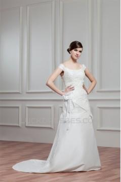 A-Line Off-the-Shoulder Lace Wedding Dresses 2030748