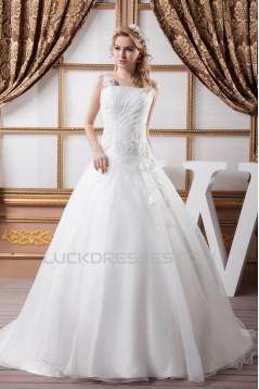 Latest Design Sleeveless Straps A-Line Sweet Wedding Dresses 2030762