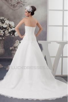 Latest Design Sleeveless Sweetheart A-Line Lace Wedding Dresses 2030763