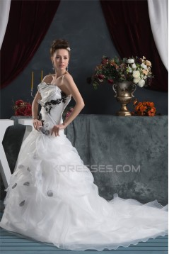 Latest Design Strapless Sleeveless A-Line Wedding Dresses 2030764