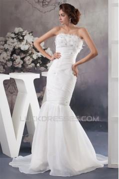 Mermaid/Trumpet Strapless Court Train Most Beautiful Wedding Dresses 2030768