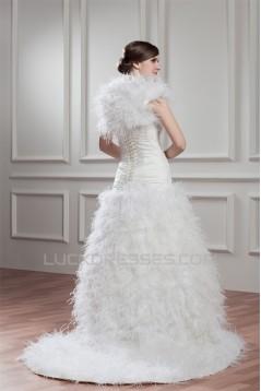 New Arrival Satin Sleeveless A-Line Sweetheart Wedding Dresses 2030781