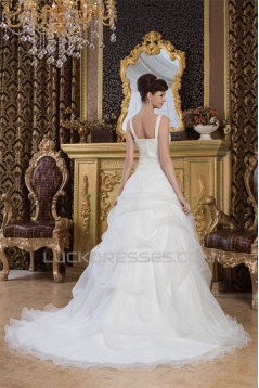 New Arrival Straps A-Line Sleeveless Satin New Arrival Wedding Dresses 2030784