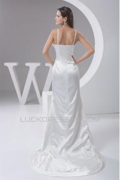 New Design Sweetheart Sleeveless Spaghetti Strap Beaded Wedding Dresses 2030789