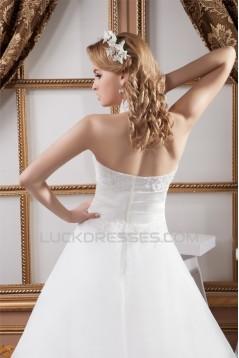New Design Halter Satin Lace A-Line Sleeveless Wedding Dresses 2030790