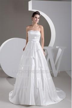 New Design Sleeveless Strapless Satin Taffeta Wedding Dresses 2030797