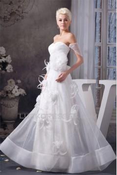 Off-the-Shoulder Satin Lace Sheath/Column Sweet Wedding Dresses 2030807