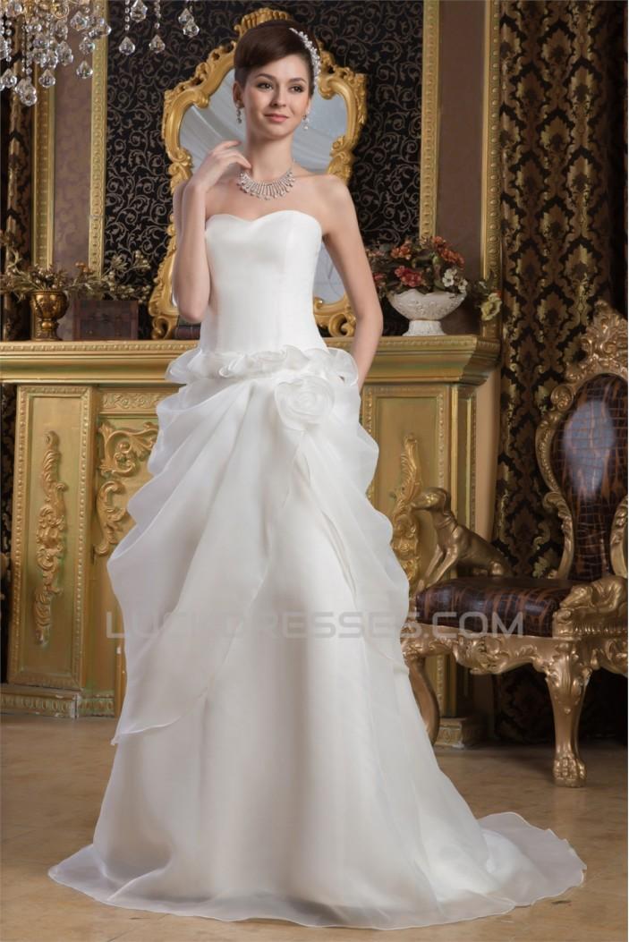 Princess Sweetheart Sleeveless Court Train Wedding Dresses 2030827
