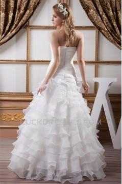 A-Line Sleeveless Soft Sweetheart Most Beautiful Wedding Dresses 2030831