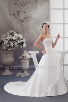 A-Line Sleeveless Strapless Wedding Dresses 2030832