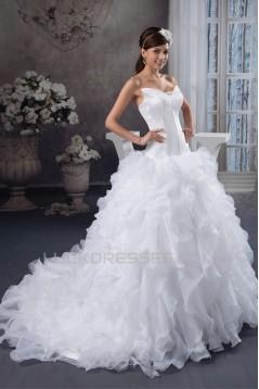 A-Line Sleeveless Strapless Most Beautiful Wedding Dresses 2030833