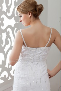 Satin Organza Sleeveless A-Line Sweetheart Embellished Wedding Dresses 2030866
