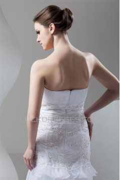 Satin Organza Soft Sweetheart Mermaid/Trumpet Beading Wedding Dresses 2030867