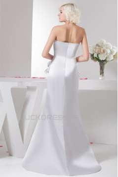 Trumpet/Mermaid Sweetheart Pleats Sweep Train Wedding Dresses 2030874