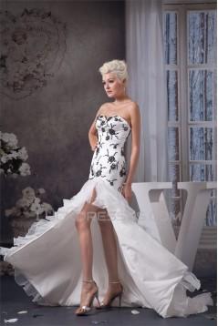 Sleeveless A-Line Sweetheart Satin Ruffles Wedding Dresses 2030915