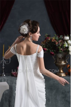 Sheath/Column Chiffon Off-the-Shoulder Wedding Dresses 2030921