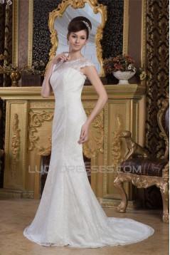 Sleeveless Portrait Satin Lace Mermaid/Trumpet New Arrival Wedding Dresses 2030932