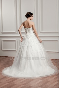 Sleeveless Satin A-Line Sweetheart Most Beautiful Wedding Dresses 2030935
