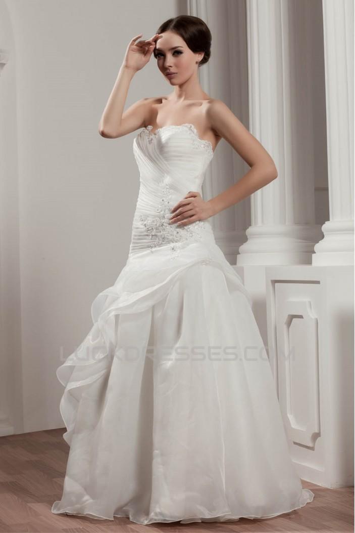 Sleeveless Satin A-Line Sweetheart Beautiful Wedding Dresses 2030936