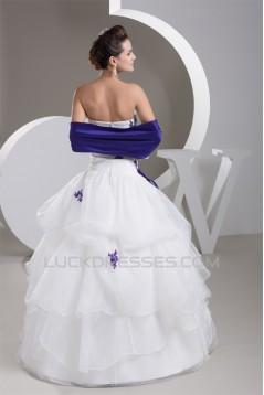 Ball Gown Sleeveless Strapless Floor-Length Wedding Dresses 2030944
