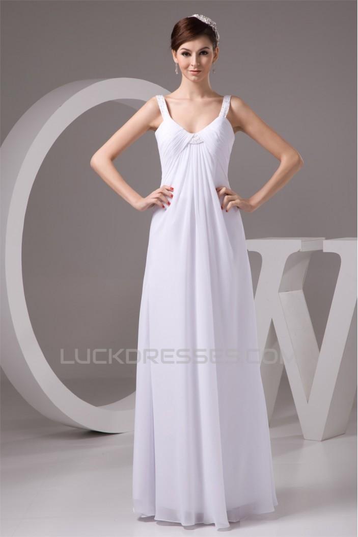 Sheath/Column Chiffon Floor-Length Wedding Dresses Maternity Wedding Dresses 2030951