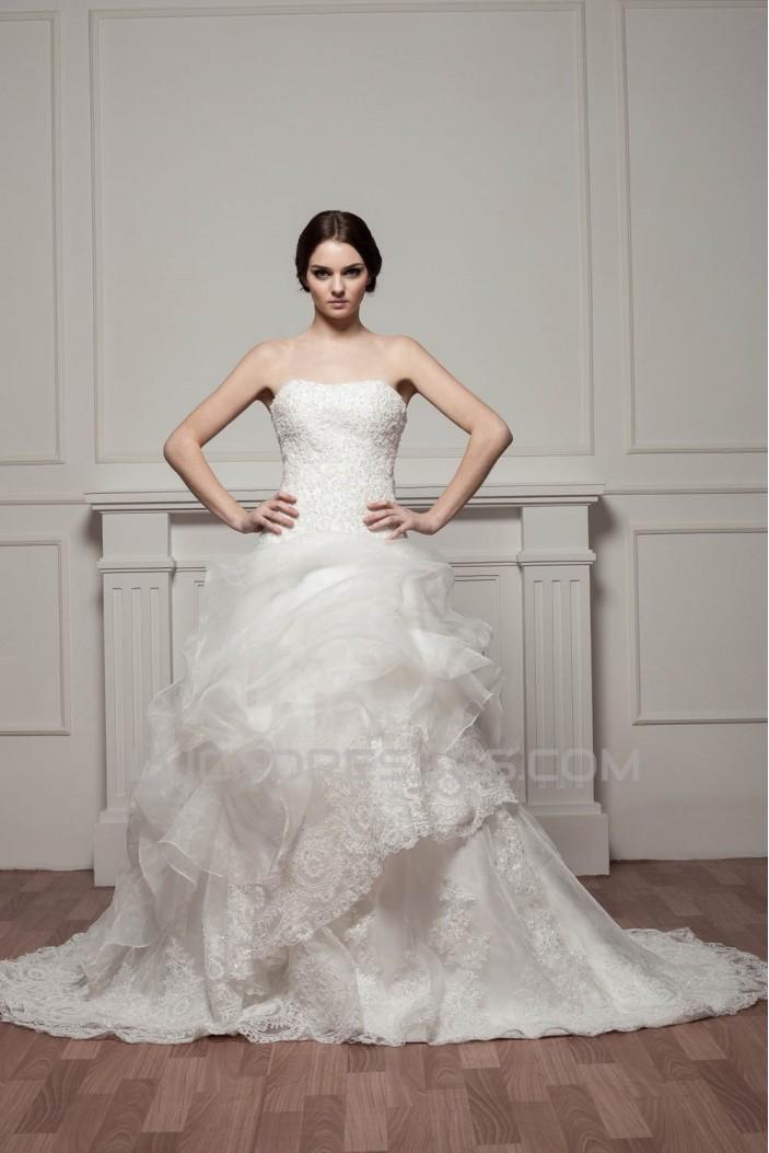 Sleeveless Soft Sweetheart A-Line Lace Wedding Dresses 2030957