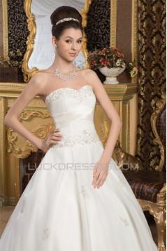 Sleeveless Soft Sweetheart Satin A-Line Beautiful Wedding Dresses 2030958
