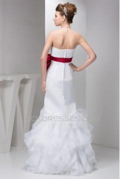 Sleeveless Strapless Satin Mermaid/Trumpet Wedding Dresses 2030964