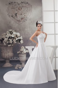 Strapless A-Line Strapless Beaded Wedding Dresses 2030991