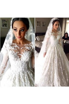 Long Sleeves Lace Wedding Dresses Bridal Gowns 3030013