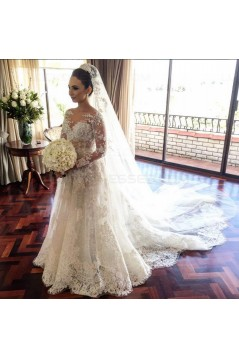Long Sleeves Lace Wedding Dresses Bridal Gowns 3030034