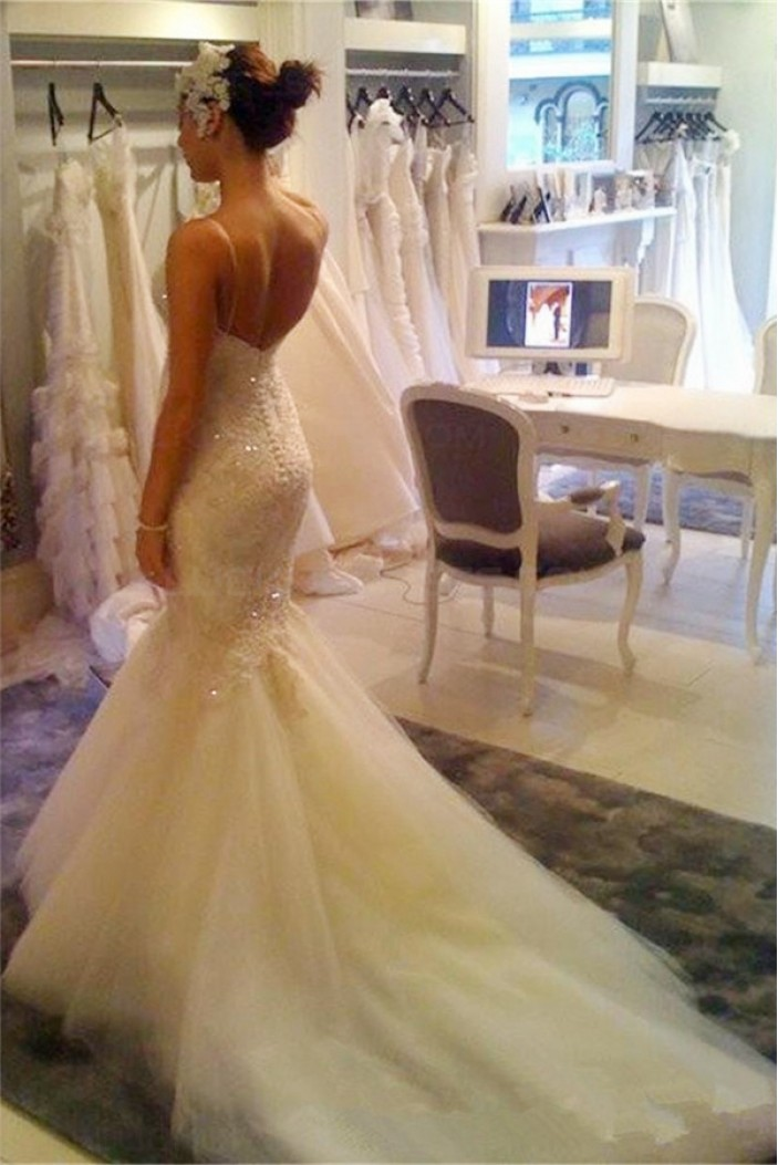 Mermaid Lace Wedding Dresses Bridal Gowns 3030039
