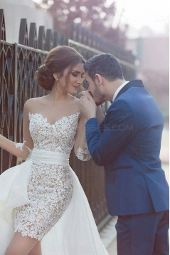 Long Sleeves Lace Wedding Dresses Bridal Gowns 3030041