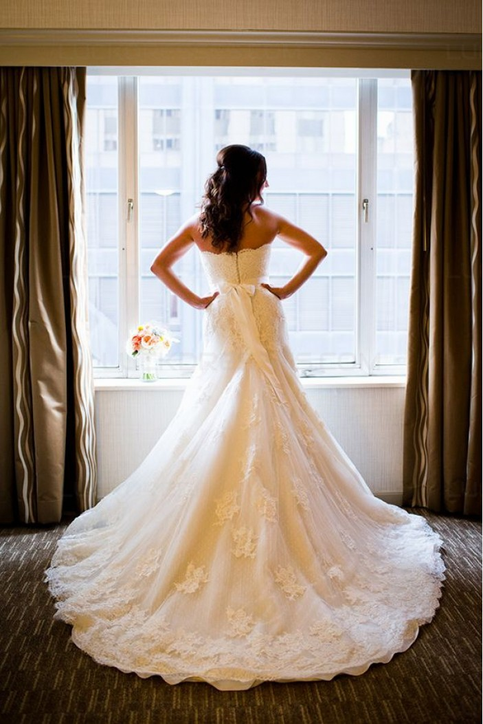 Lace Sweetheart Mermaid Wedding Dresses Bridal Gowns 3030042