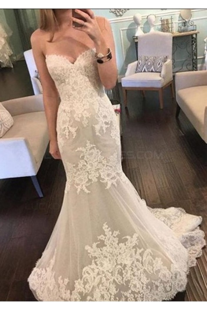 Mermaid Lace Sweetheart Wedding Dresses Bridal Gowns 3030043