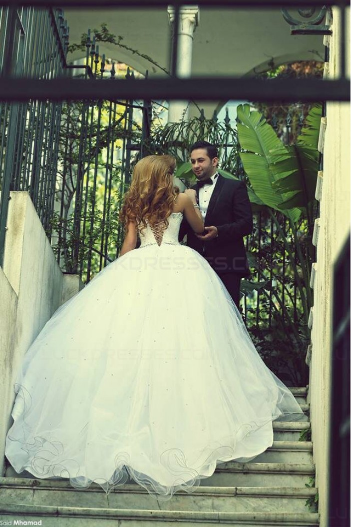 Crystal Tulle Ball Gown Wedding Dresses Bridal Gowns 3030049