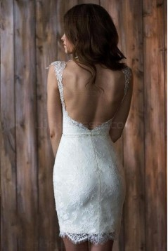 Lace Tulle Sleeveless Wedding Dresses Bridal Gowns 3030052