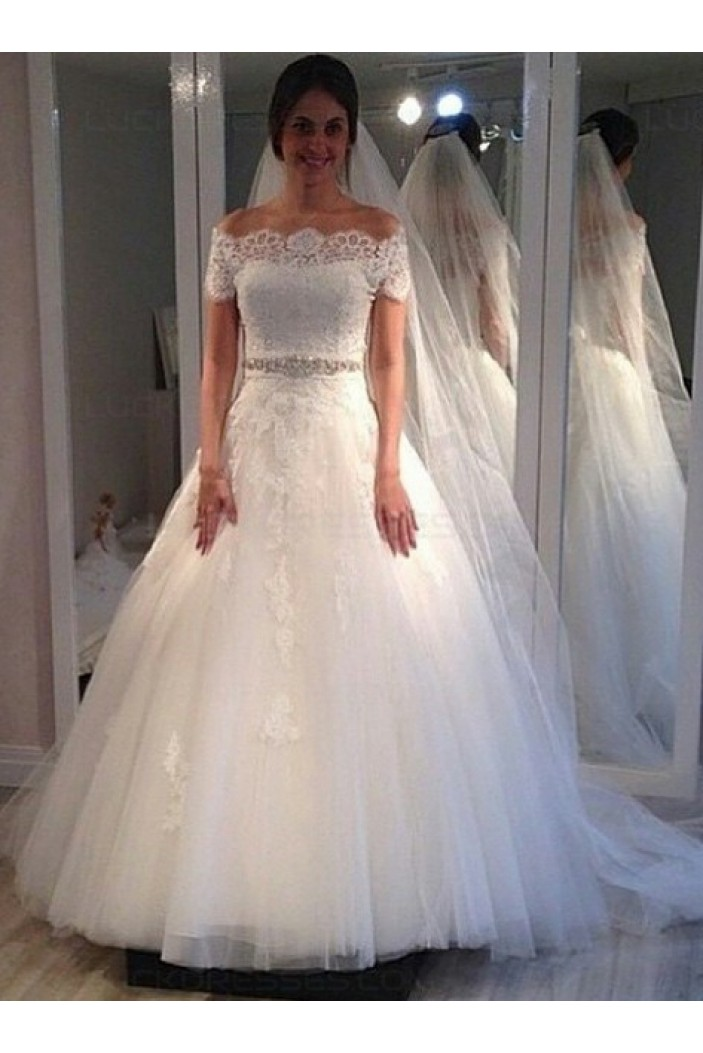 Lace Off-the-Shoulder Wedding Dresses Bridal Gowns 3030057