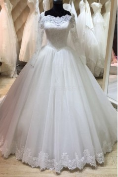 Long Sleeves Lace Wedding Dresses Bridal Gowns 3030066