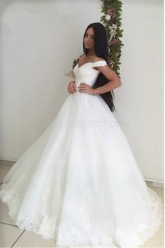 Lace Off-the-Shoulder Wedding Dresses Bridal Gowns 3030071