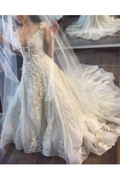 Sexy Lace V-Neck Wedding Dresses Bridal Gowns 3030072