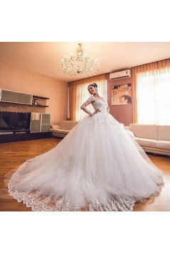 Ball Gown Long Sleeves Lace Wedding Dresses Bridal Gowns 3030074