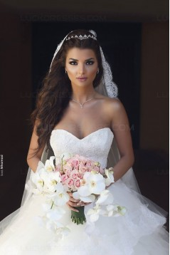 Ball Gown Sweetheart Lace Wedding Dresses Bridal Gowns 3030079