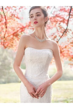 Mermaid Strapless Lace Wedding Dresses Bridal Gowns 3030097