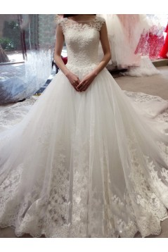 Lace Sleeveless Wedding Dresses Bridal Gowns 3030098